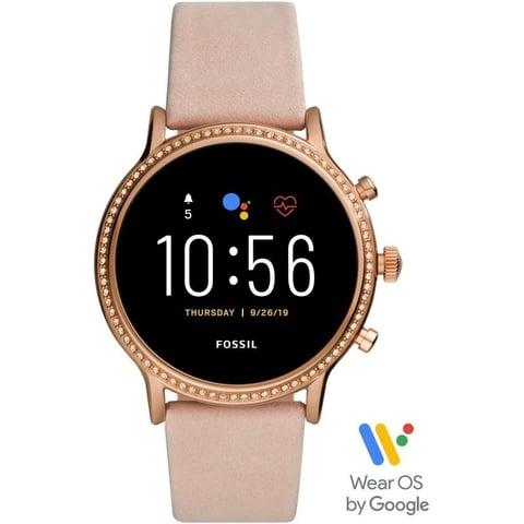 Fossil Gen 5 Smartwatch Julianna HR Blush Leather (FTW6054)