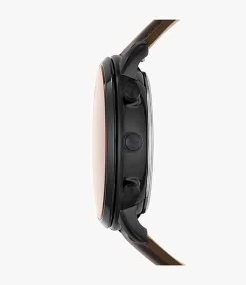 Fossil Hybrid Smartwatch Neutra Whisky Leather Black (FTW1179) 1