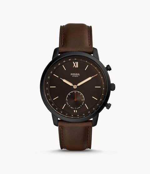 Fossil Hybrid Smartwatch Neutra Whisky Leather Black (FTW1179)