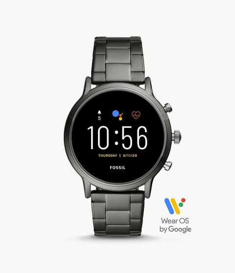 Fossil Gen 5 Smartwatch The Carlyle HR Smoke Stainless Steel (FTW4024)